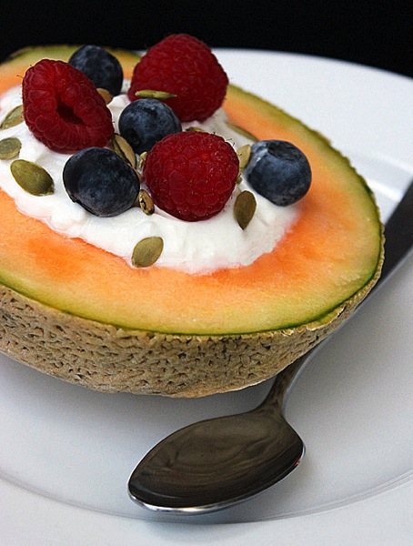 Greek Yogurt Melon Bowl