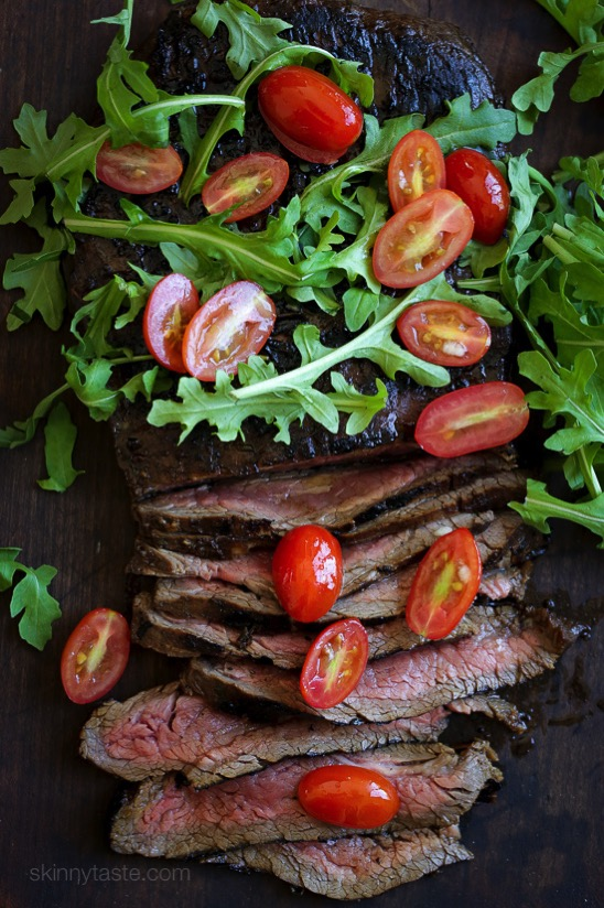 Grilled Balsamic Steak with Tomatoes